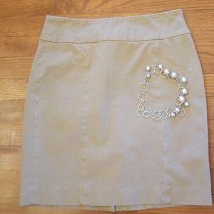 Banana Republic Cotton Khaki Skirt